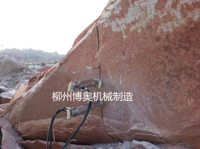 大塊硬石頭破開劈裂機設備
