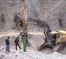 廠家供應石灰石花崗巖快速破裂機械劈石機