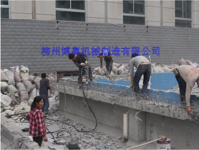 博奧鋼筋混凝土搭配劈裂機的破拆施工方案