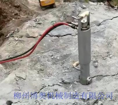 博奧靜態破石設備巖石劈裂機成為工程及礦山熱門機械