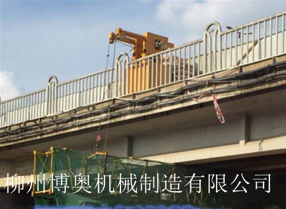 博奥简易吊篮式桥梁检测车有效解决跨点过墩作业问题!